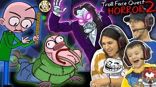 BALDI the WALRUS? TROLLFACE HORROR QUEST 2 w/ Mom & Shawn (FGTEEV gets Trolled)