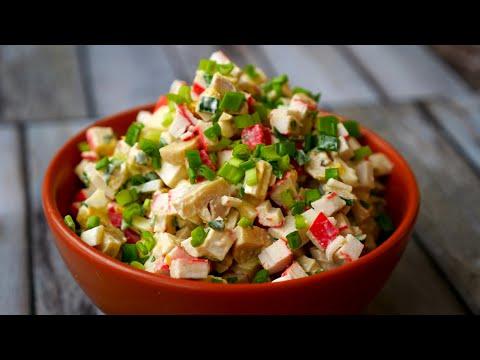 Салат с крабовыми палочками ПО-НОВОМУ