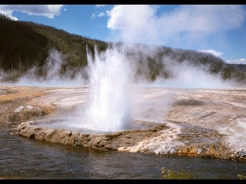 ♥♥ Relaxing 3 Hour Video of Geyser at Yellowstone