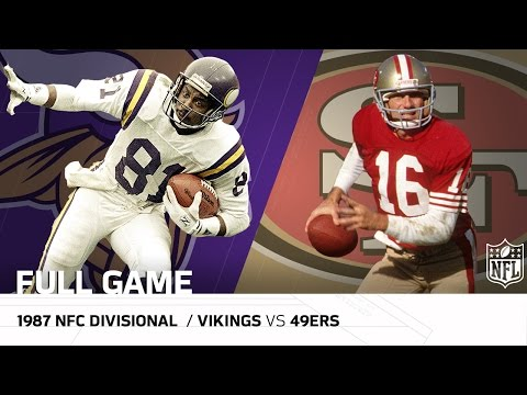 1987 NFC Divisional Playoffs: Minnesota Vikings vs. San Francisco 49ers | NFL Full Game