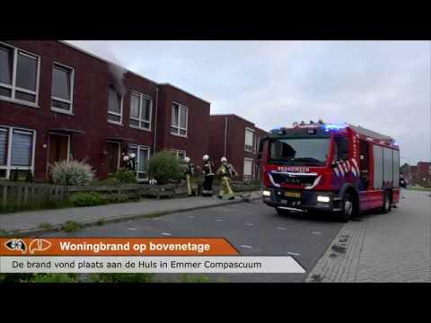 Woningbrand op de bovenverdieping in Emmer-Compascuum