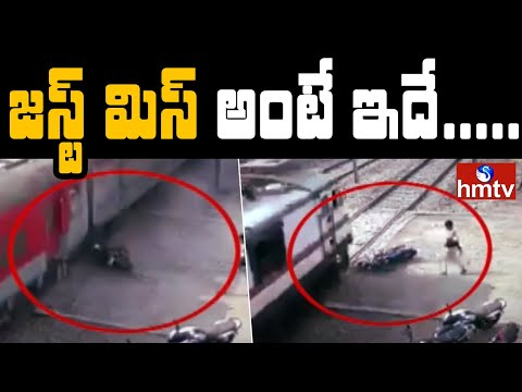 Viral video:Train hits bike in Rajahmundry, narrow escape