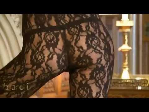 Baci Lingerie BL1151 Чулок на тело черный кружевной комбинезон с длинными рукавами