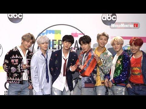 BTS, Jungkook, Jimin, V, Suga, Jin, J-Hope, Rap Monster 2017 American Music Awards Backstage
