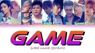 SUPER JUNIOR 슈퍼주니어 'Game' Color Coded Lyrics [Han/Rom/Eng]
