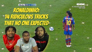 AMERICANS FIRST REACTION TO Ronaldinho: 14 Ridiculous Tricks That No One Expected
