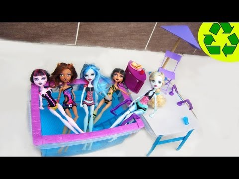 How to Make a Doll Swimming Pool -Recycling