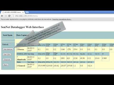 Acceso a datos capturados por el datalogger