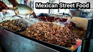 DELICIOUS Mexican Street TACOS - REAL Street Food DEEP In The Heart Of Mexico
