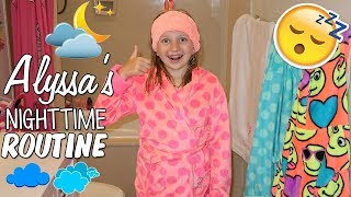 Alyssa's Nighttime Going to Bed Routine