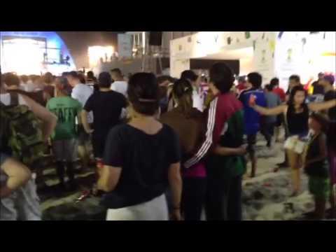 Brazil 2014: Klip iz fan zone na Copacabani