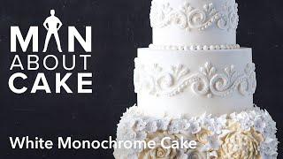 (man about) White Monochrome Cake   Man About Cake