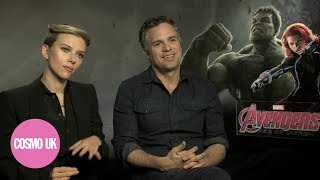 Cosmopolitan UK flip sexist questions on The Avengers Scarlett Johansson and Mark Ruffalo