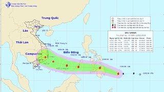 Tin Bão Mới Nhất: Bão Sanba di chuyển nhanh vào Biển Đông