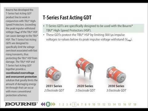 Bourns T-Series Fast Acting GDT Training