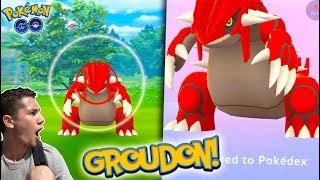 GEN 3 LEGENDARY GROUDON CAUGHT IN POKÉMON GO! *NEW LEGENDARY*