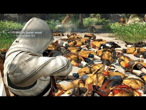 Assassin's Creed 4 Brutal Battle Longest Fight In AC4 History