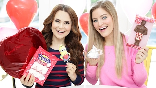 TRYING FUN VALENTINES CANDY w/ iJustine!