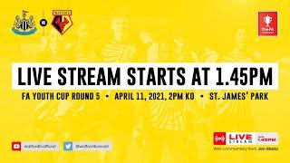 NEWCASTLE UNITED U18 VS WATFORD U18 | FA YOUTH CUP ROUND FIVE | LIVE MATCH STREAM
