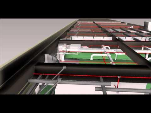 Fire Sprinkler 3D BIM NAVIS Fly Through - 2015 Video #3