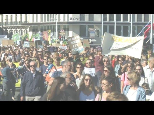 全球30多城市同步進行氣候變遷示威