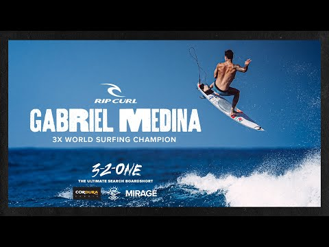 3x World Champion Gabriel Medina in Mirage 3-2-One | The Ultimate Search Boardshort | Rip Curl