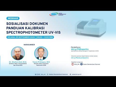 https://youtu.be/TBwa5CLHW-ASosialisasi Dokumen Panduan Kalibrasi Spectrophotometer UV-Vis