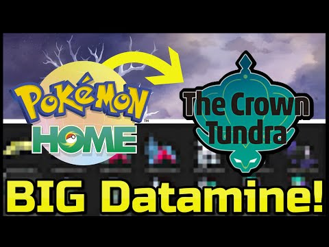 Huge Datamine and Leak For The Crown Tundra! New Pokemon and New Information for the Release Time!