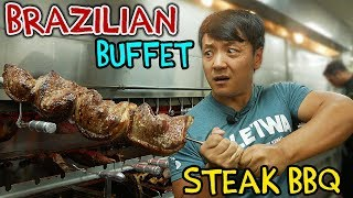 All You Can Eat BRAZILIAN STEAK BBQ Buffet in New York