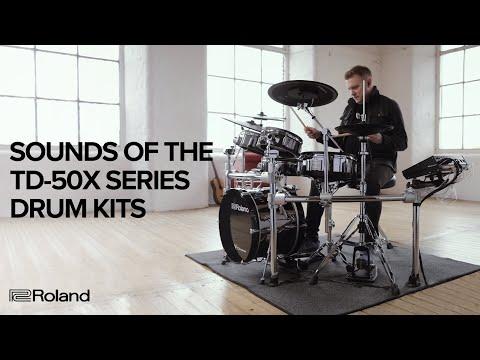 Vidéo Sounds of the Roland V-Drums TD-50X Series (TD-50X Module; TD-50KV2; TD-50K2)