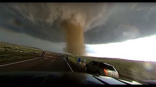 Insane 360 video of close-range tornado near Wray, CO!