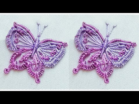 Beautiful butterfly design | Hand embroidery | easy stitches