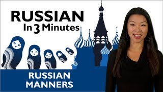 Learn Russian - Thank You & You're Welcome in Russian