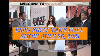 ESPN FIRST TAKE FULL SHOW JULY 26 2021 | Stephen A Smith is sad Team USA loses to France Blames KD