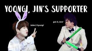 Yoongi, Jin's supporter | BTS 진/슈가 Yoonjin