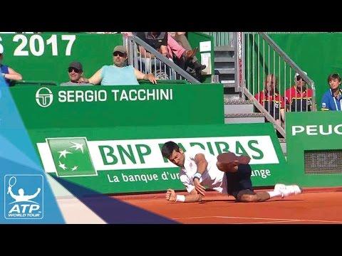 Djokovic Takes Hard Fall Monte-Carlo 2017