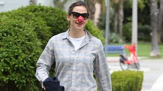 Jennifer Garner Does A Cute Little Dance As She Participates In Controversial Red Nose Day