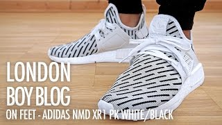 En pies / de Adidas NMD XR1 PK blanco / pies negro YouTube musicbaby 440ea4
