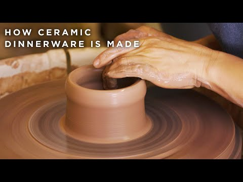 How Ceramic Dinnerware Is Made ? Tasty