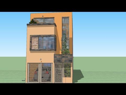 Casa en terreno 6x15 mts for Casa moderna minimalista interior 6m x 12 50 m
