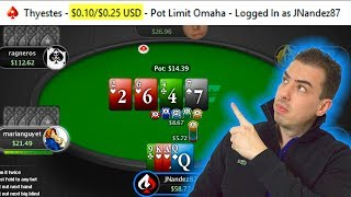 How Do You Beat Low Stakes PLO? Play and Explain $0.10/$0.25 Zoom