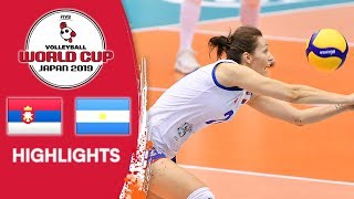 SERBIA vs. ARGENTINA - Highlights   Women's Volleyball World Cup 2019