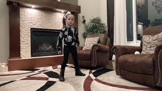 Angelena dancing to Chearleader