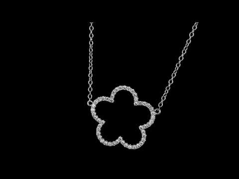 Browns Family Jewellers Flower Diamond Pendant