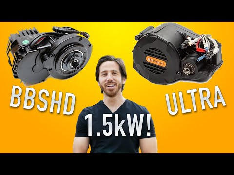 1,500W e-bike mid-motors: BBSHD & Bafang ULTRA