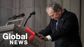 Bush funeral: George W. Bush tearfully calls his father 'the best you could have'