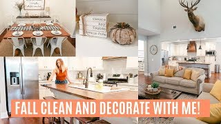 CLEAN AND DECORATE WITH ME 2019 // FALL HOUSE TOUR // FALL DECORATING IDEAS