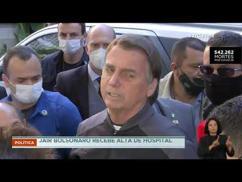 Bolsonaro recebe alta e sai do hospital neste domingo (18)