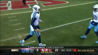 Marcus Mariota self TD pass: Chiefs vs Titans NFL Wildcard