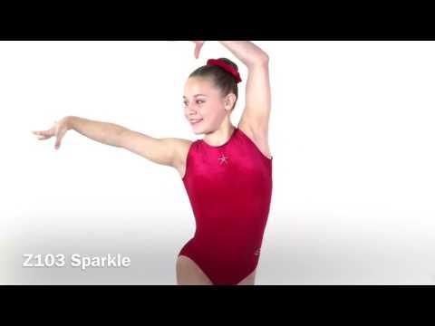 Sparkle Sleeveless Crystal Star Gymnastics Leotard
